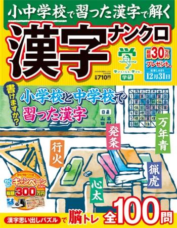 小中学校で習った漢字で解く漢字ナンクロ